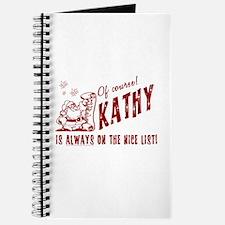 Nice List Kathy Christmas Journal