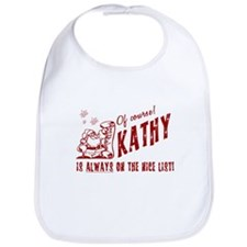 Nice List Kathy Christmas Bib