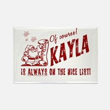 Nice List Kayla Christmas Rectangle Magnet