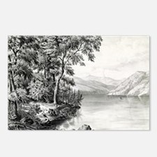 View on Lake George NY - 1866 Postcards (Package o