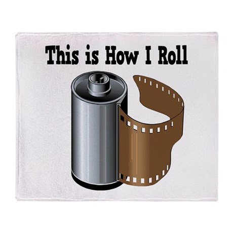 How I Roll (Camera Film) Throw Blanket