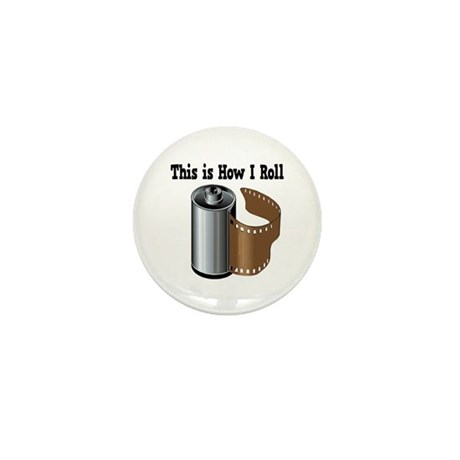 How I Roll (Camera Film) Mini Button (10 pack)