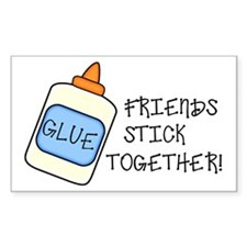 Friends Stick Together Rectangle Decal