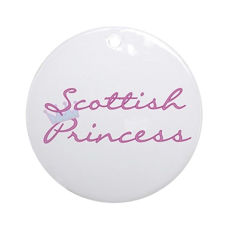Scottish Princess Ornament (Round)