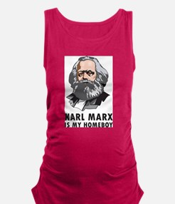 Karl Marx Is My Homeboy Maternity Tank Top