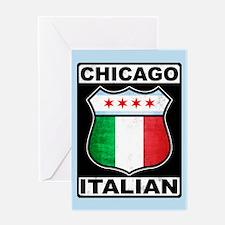 Chicago Italian American Greeting Card