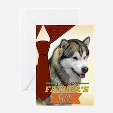Malamute Fathers Day Card