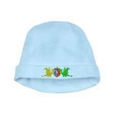 Cute Cartoon Dragons Crest Coat of Arms baby hat