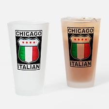 Chicago Italian American Drinking Glass