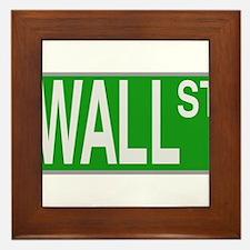 Wall Street Sign Framed Tile