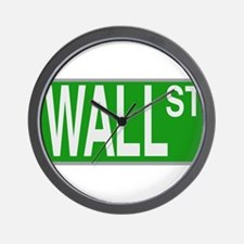 Wall Street Sign Wall Clock