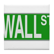 Wall Street Sign Tile Coaster