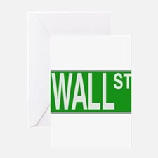 Wall Street Sign Greeting Card