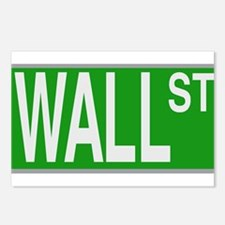 Wall Street Sign Postcards (Package of 8)