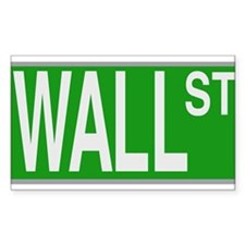 Wall Street Sign Decal