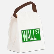 Wall Street Sign Canvas Lunch Bag