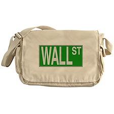 Wall Street Sign Messenger Bag