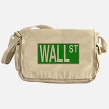 Wall Street Sign Messenger Bag