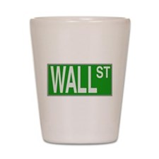 Wall Street Sign Shot Glass