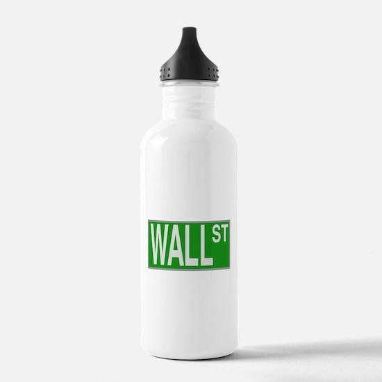Wall Street Sign Water Bottle