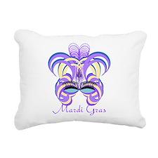 Mardi Gras Purple Feather Mask Rectangular Canvas