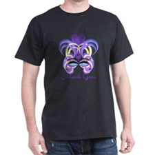 Mardi Gras Purple Feather Mask T-Shirt