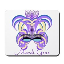 Mardi Gras Purple Feather Mask Mousepad