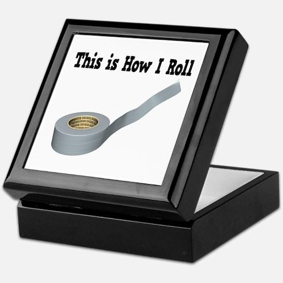 How I Roll (Duct Tape) Keepsake Box