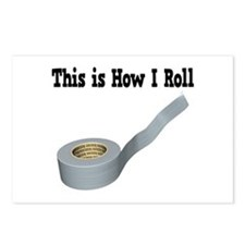 How I Roll (Duct Tape) Postcards (Package of 8)