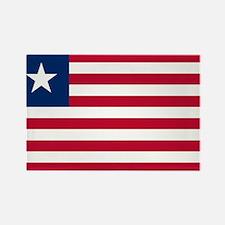 Flag of Liberia Rectangle Magnet