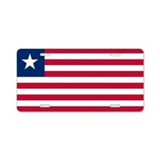 Flag of Liberia Aluminum License Plate