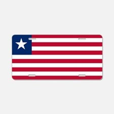 Flag of Liberia Aluminum License Plate