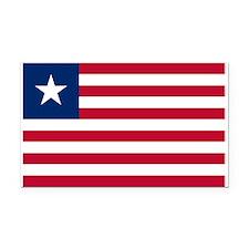 Flag of Liberia Rectangle Car Magnet
