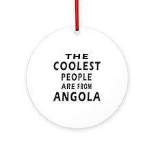 The Coolest Angola Designs Ornament (Round)
