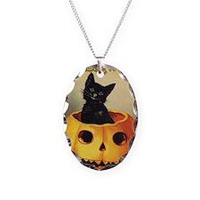 Vintage Halloween, Cute Black Necklace