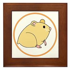 Cute Hamster Framed Tile