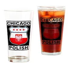 Chicago Polish American Drinking Glass