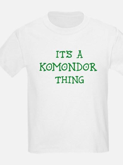 Komondor thing Kids T-Shirt