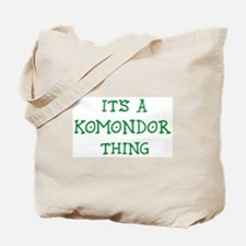 Komondor thing Tote Bag