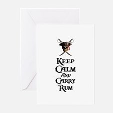 Keep Calm Carry Rum Greeting Cards (Pk of 20)