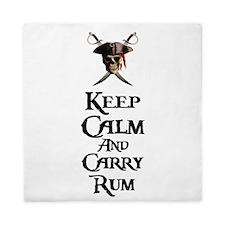 Keep Calm Carry Rum Queen Duvet