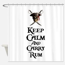 Keep Calm Carry Rum Shower Curtain