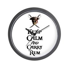 Keep Calm Carry Rum Wall Clock