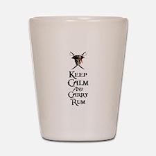 Keep Calm Carry Rum Shot Glass