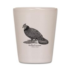 Ruffed Grouse Shot Glass
