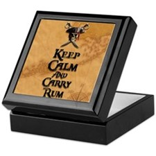 Keep Calm And Carry Rum Keepsake Box