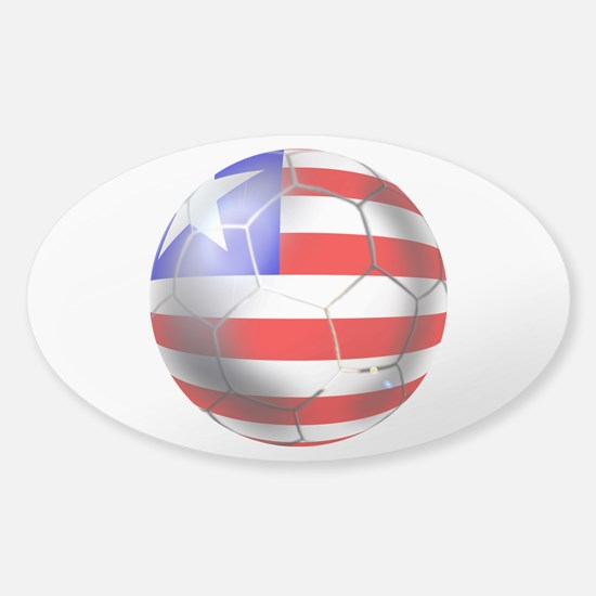 Liberia Soccer Ball Sticker (Oval)