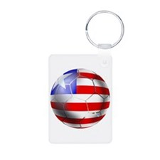 Liberia Soccer Ball Keychains