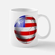 Liberia Soccer Ball Mug Mugs