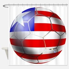 Liberia Soccer Ball Shower Curtain